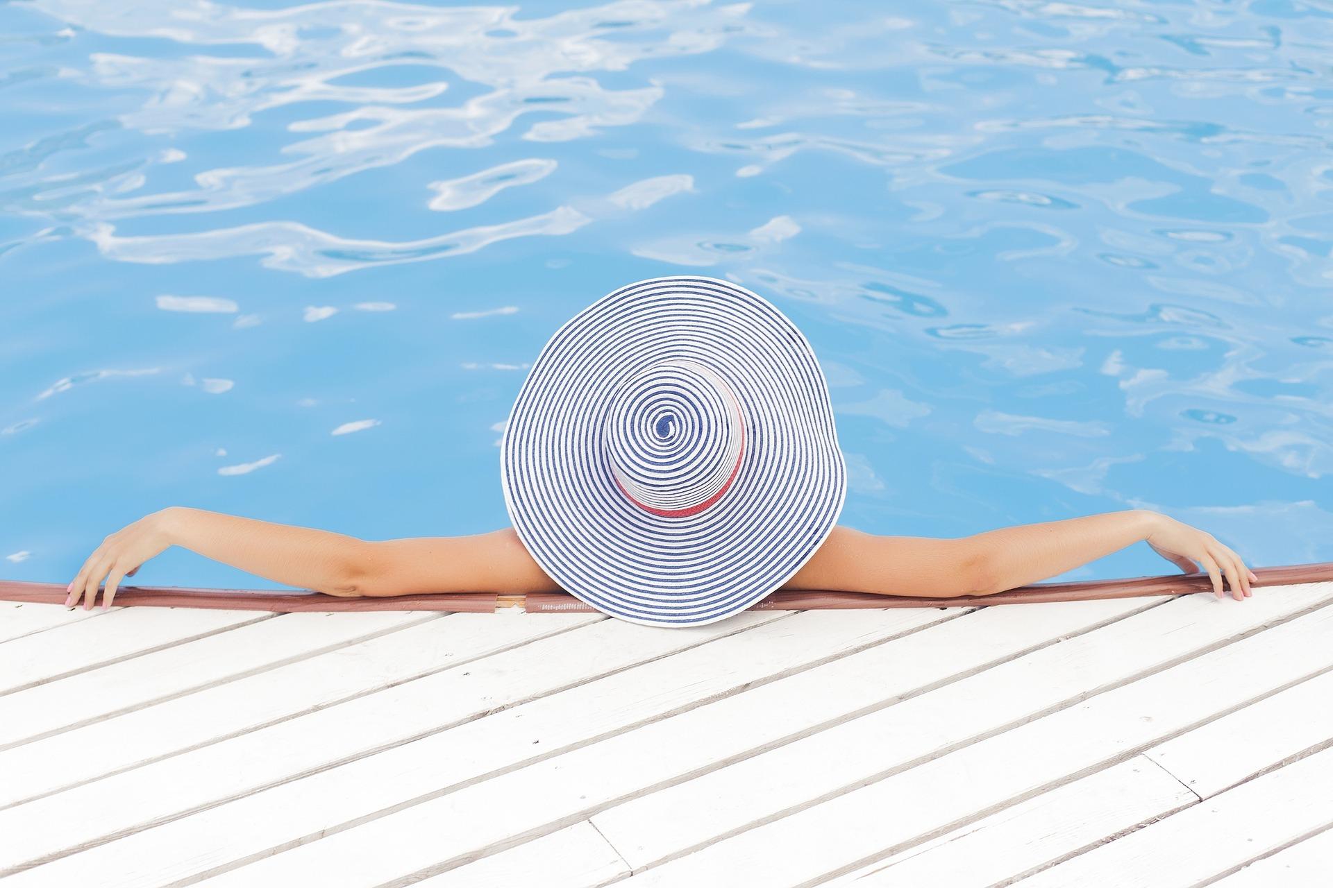 Enjoy summer leisure poolside